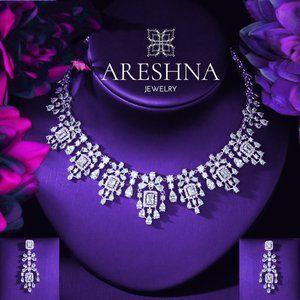 Magestic Swarovski Crystals Luxury Jewelry Set